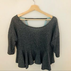 Anthropologie knitted peplum top